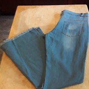 Vintage raw hem bell bottom jeans